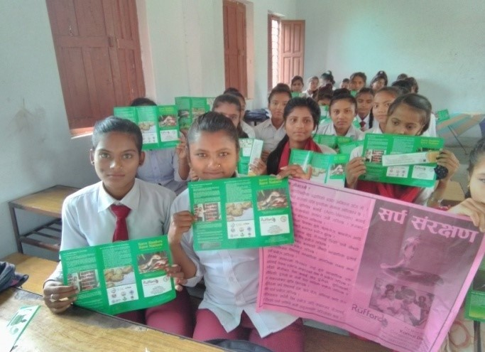 Snake awareness campaigns held in schools in Nepal